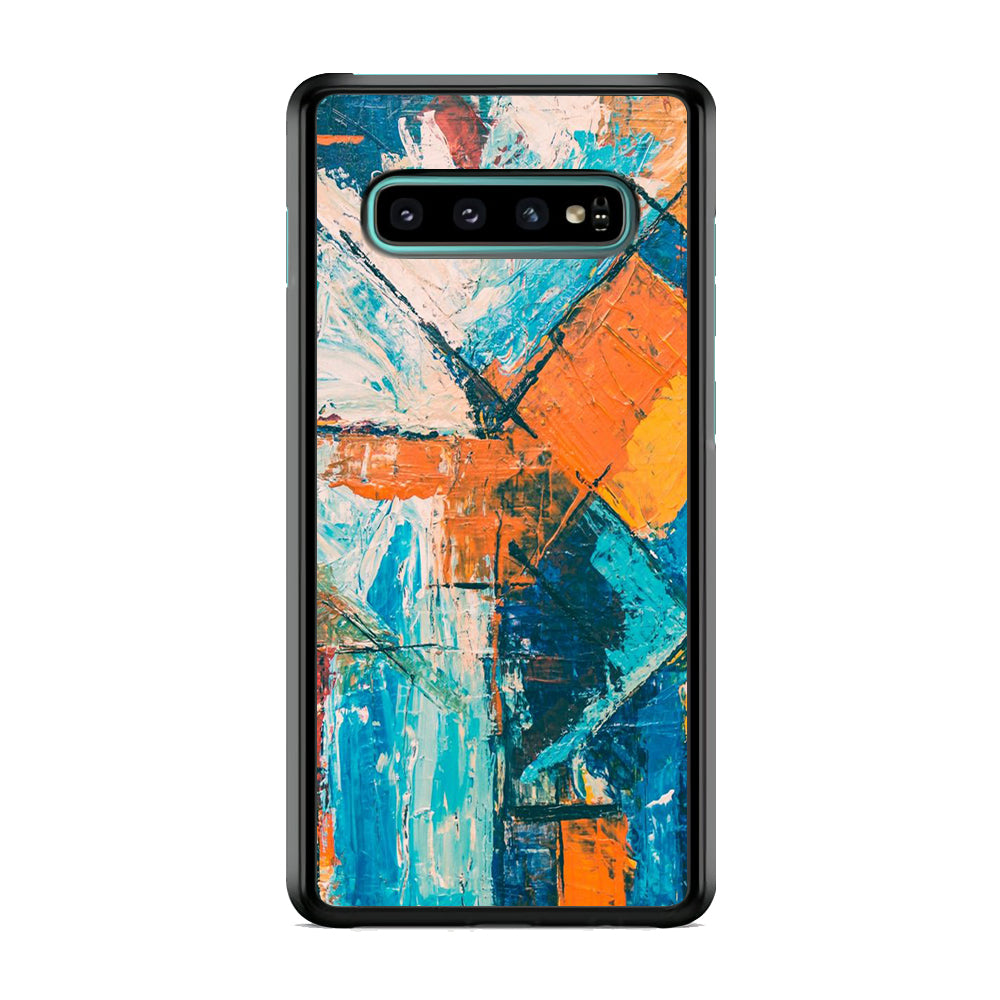 Viscous Paint Abstract Colour Samsung Galaxy S10 Case