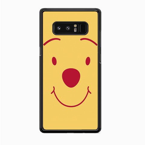 Winnie The Pooh Smile Face Samsung Galaxy Note 8 Case