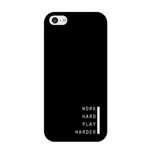 Word Black Work Hard iPhone 5 | 5s Case