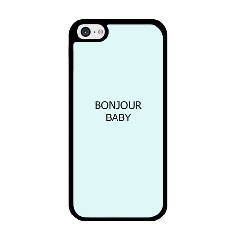 Word Blue Aqua Bonjour Baby iPhone 5 | 5s Case