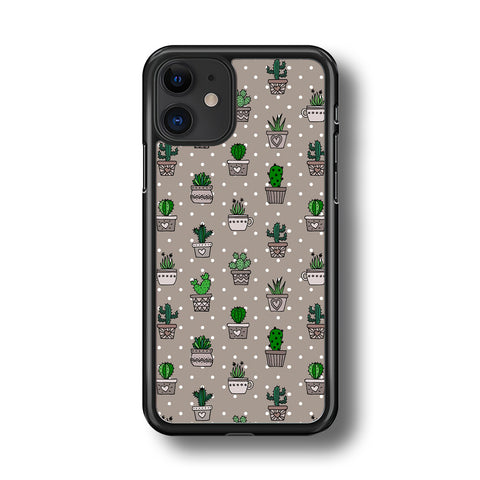 cactus Grey Polka Dot iPhone 11 Case