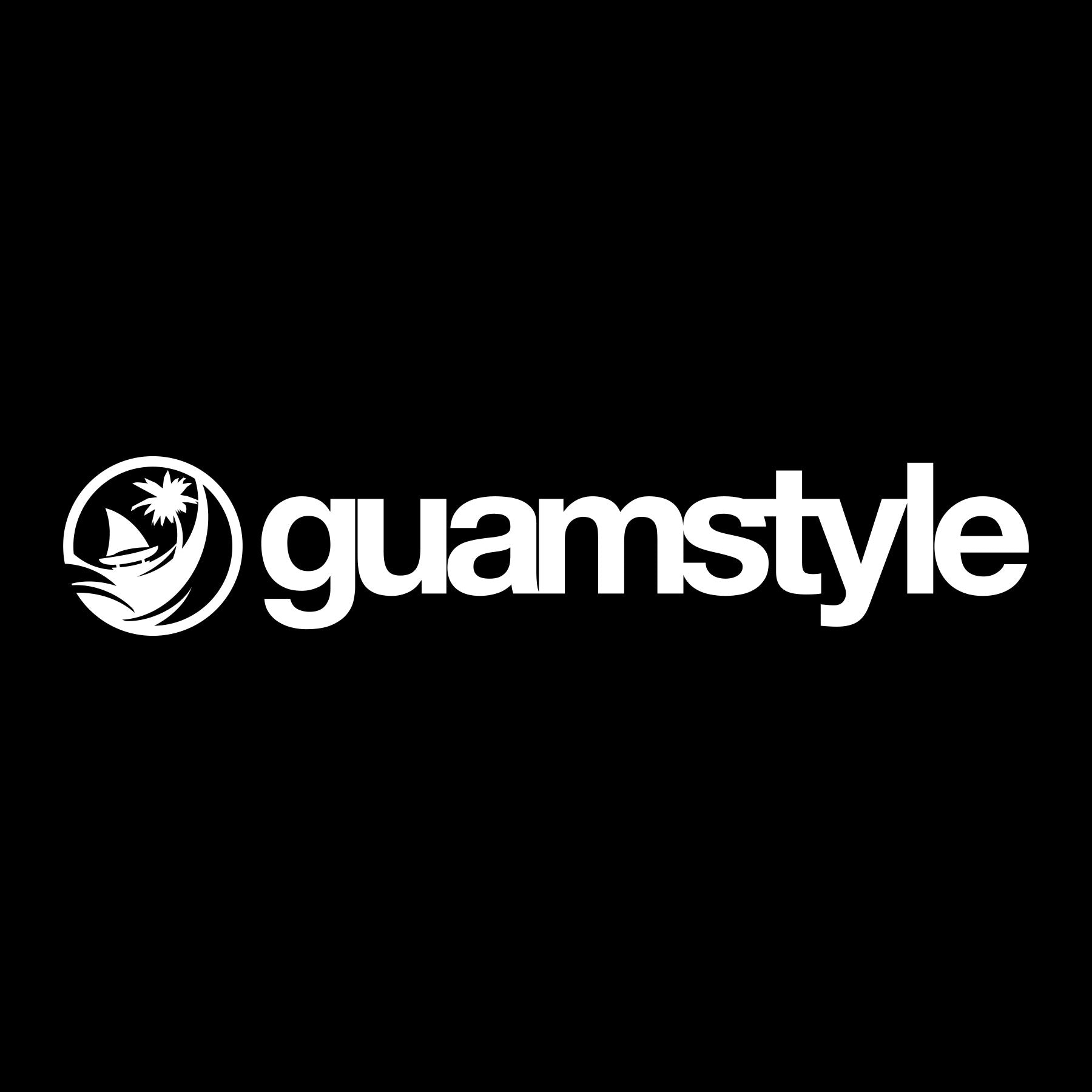 Guamstyle White Decal
