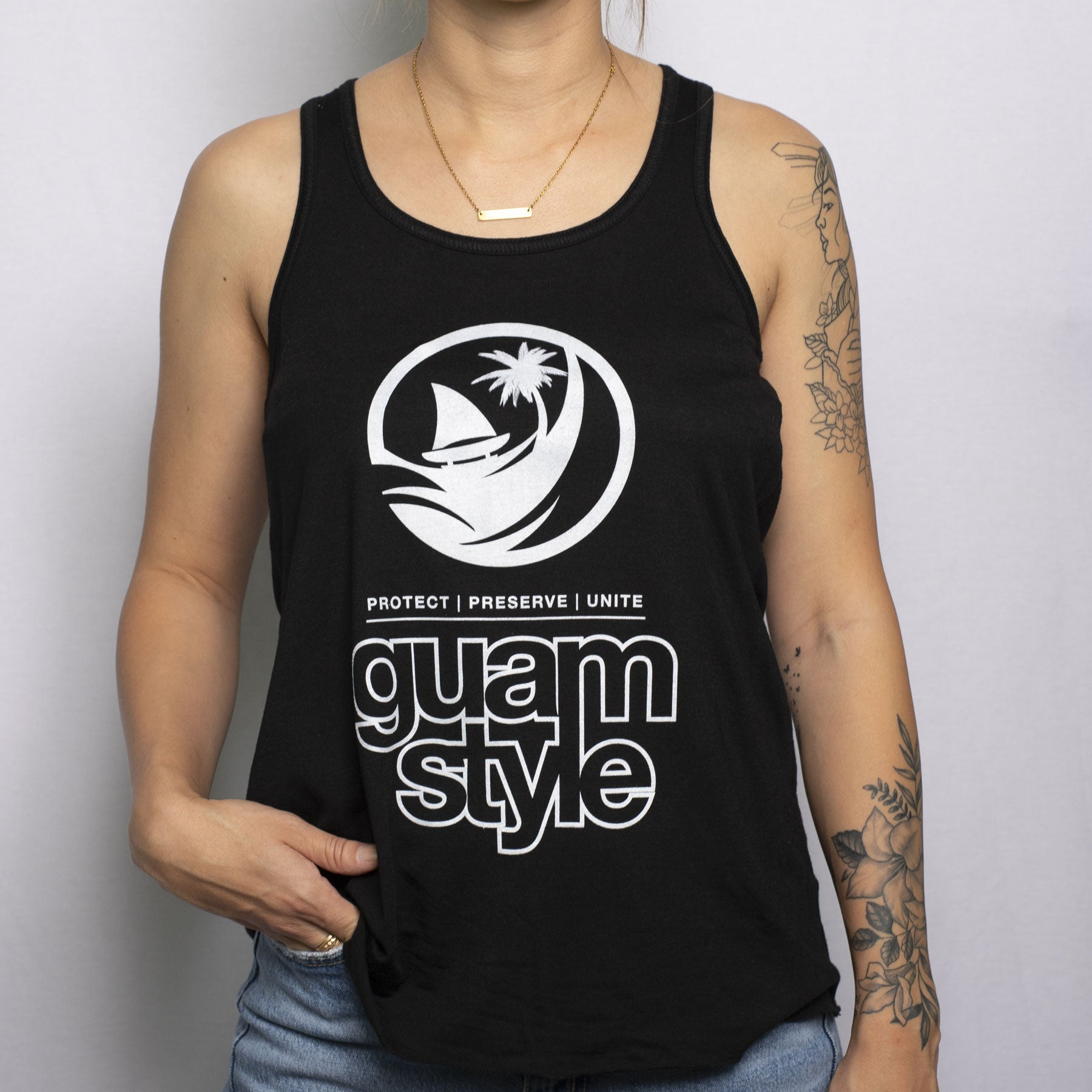 Logo Racerback Tee by Guamstyle