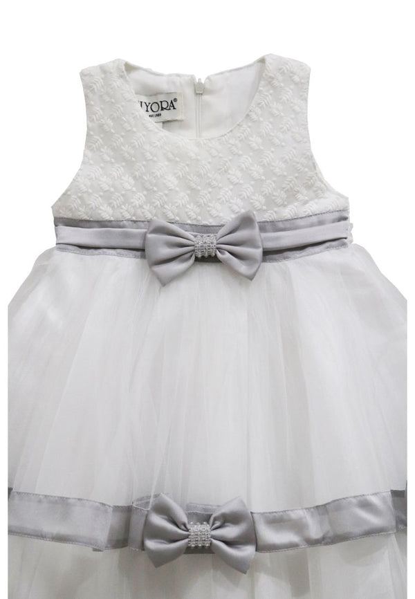 Madelyn Silver Baby Dress