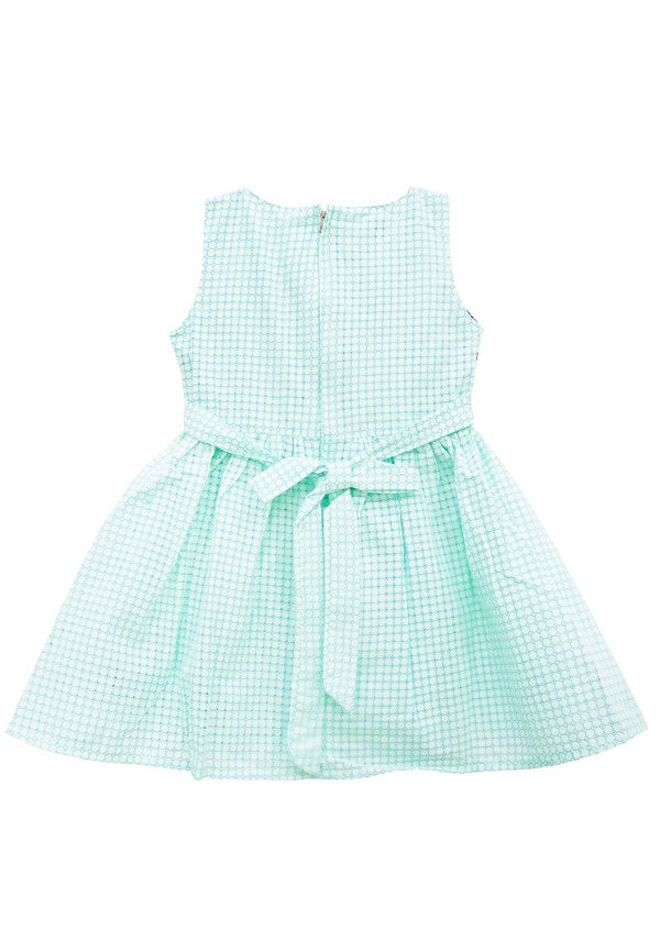 Two Line Cotton Girl Dress