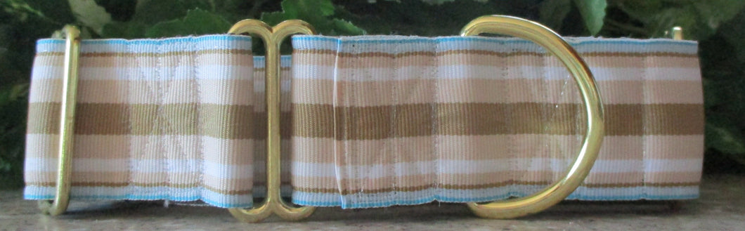 Stripes...Tan and Blue