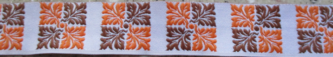 Leaves...Brown and Orange Squares 1 Inch