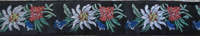 Flowers...White Red Blue on Black (Vintage)