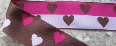 Hearts...Brown and Pinks (Double Sided)