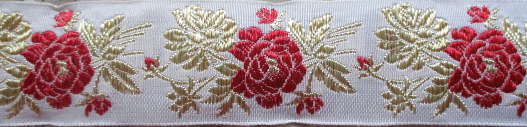 Flowers...Red and Gold Leaves on White (Vintage)