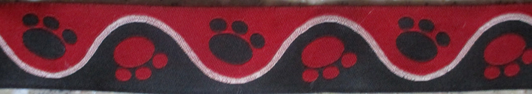 Pawprints...Red 1 Inch