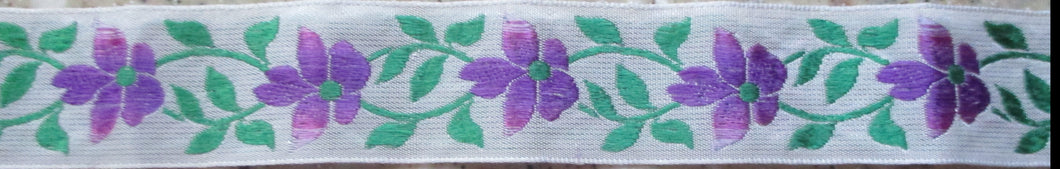 Flowers...Violet on White 1 Inch