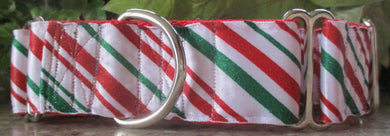 Glitter Red and Green Candy Cane Lines