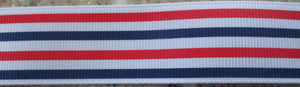 Red White Blue Stripes 1 Inch