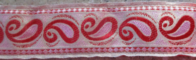 Paisley...Pink and Red on Gold