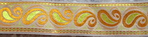 Paisley...Orange and Yellow on Gold