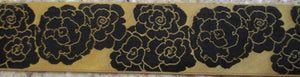 Flowers...Camellia Black on Gold