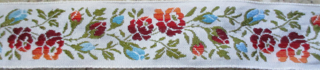 Flowers...Ombre on White 1 Inch (Vintage)