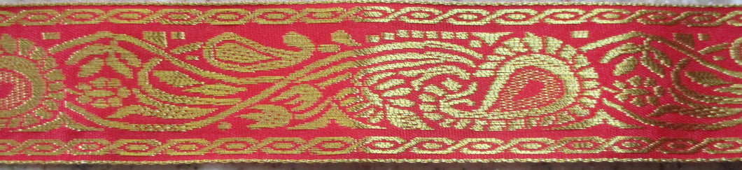 Paisley...Gold on Red 2