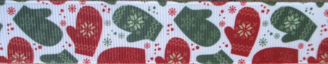 Mittens...Red and Green 1 Inch