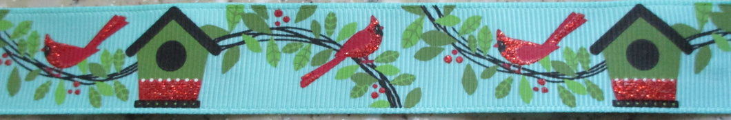 Glitter Cardinals...and Birdhouses 1 Inch