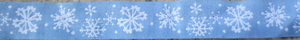 Snowflakes...on Light Blue 1 Inch