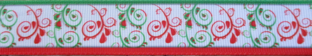 Swirls...Red and Green 1 Inch