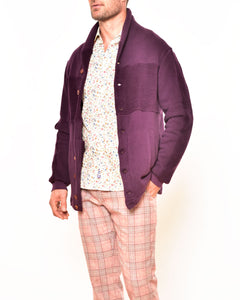CVLZD Cardigan Purple Bottom up