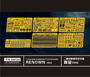 Upgrade set for Trumpeter 1/700 HMS Renown