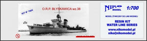 Polish destroyer ORP Blyskawica 1938