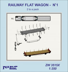 Railway flat wagon No 2 x 2