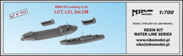 US landing craft LCT, LCI 2 x LCM
