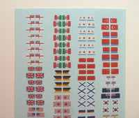 Modern naval flags and ensigns 1/700