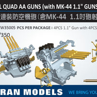 "1.1"" / 75 cal quad aa guns with Mk 44 director"