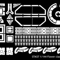 Detail set for Revell 1/144 HMCS Snowberry Flower class corvette