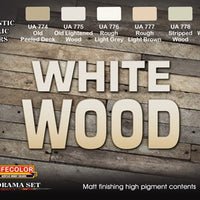 White Wood acrylic paint set
