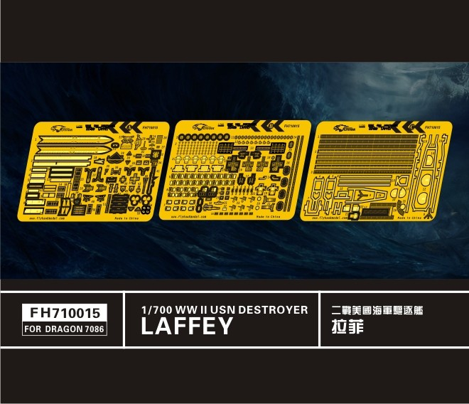 Detail set for Dragon 1/700 USS Laffey