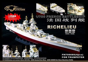 Upgrade set for Trumpeter 1/700 Richelieu