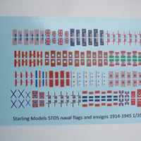 Naval flags and ensigns 1914-45 1/350