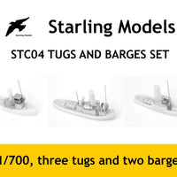 Tugs and barges set 1/700
