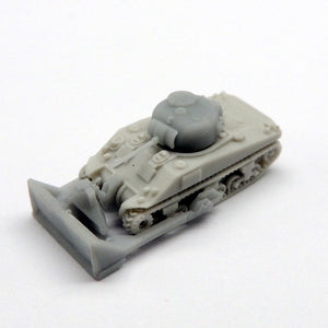 M4 Sherman tank with dozer blade x 2