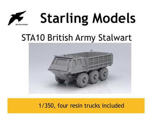 British Army Stalwart trucks 1/350