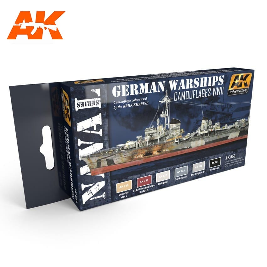 German warships acrylic paint set