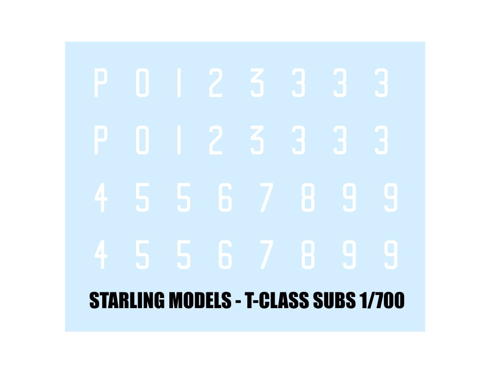 RN submarine numbers, white