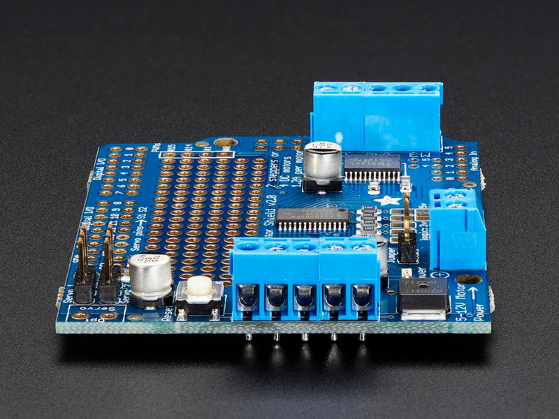 Adafruit Motor/Stepper/Servo Shield for Arduino v2 Kit - v2.3