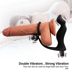 Double Stimulate Cock Ring and Butt Plug
