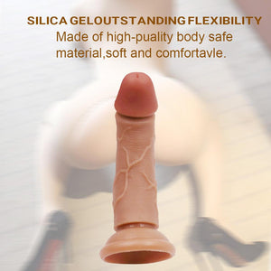 Double Layers Liquid Silicone Dildo 6.5in