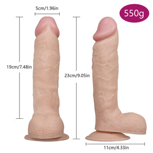 2 Size Lifelike Dildo 7.28in / 9in