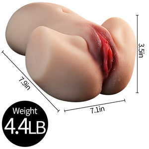 3D Realistic Ass Doll Male Masturbator with Lifelike Lips