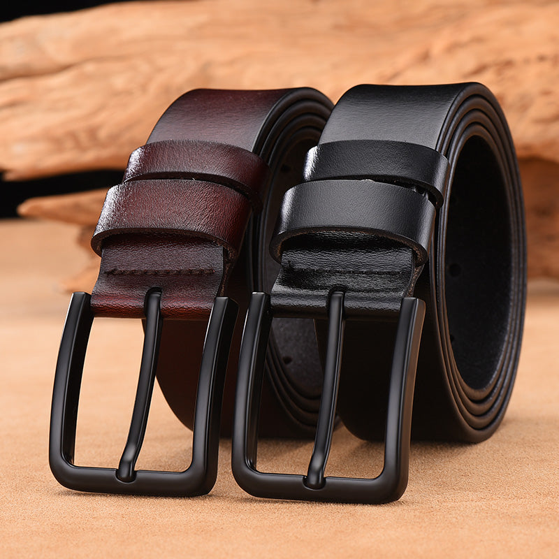 Genuine Leather Luxury Strap Vintage Pin Buckle Belt